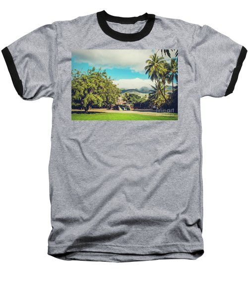 Baseball T-Shirt featuring the photograph Jodo Shu Mission Lahaina Maui Hawaii by Sharon Mau