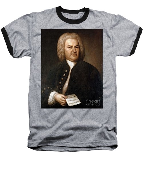 Johann Sebastian Bach, German Baroque Baseball T-Shirt