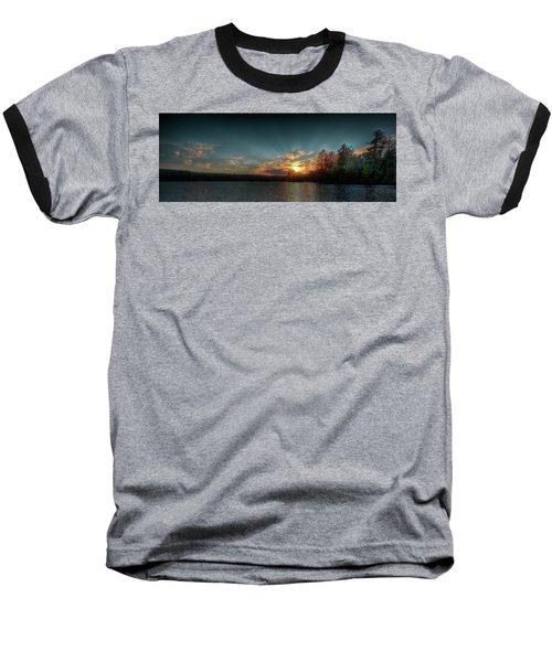 June Sunset On Nicks Lake Baseball T-Shirt by David Patterson