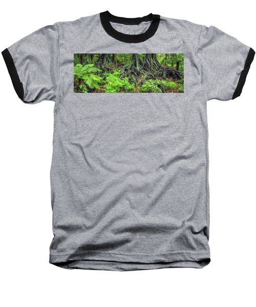 Baseball T-Shirt featuring the photograph Jungle Roots by Les Cunliffe
