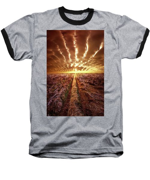 Baseball T-Shirt featuring the photograph Just Over The Horizon by Phil Koch
