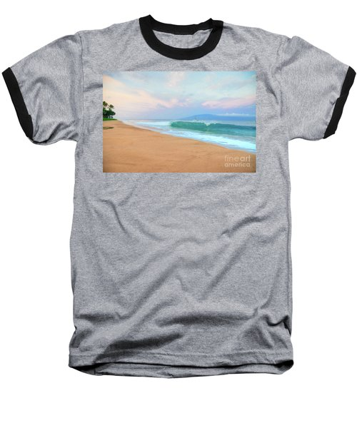 Baseball T-Shirt featuring the photograph Ka'anapali Waves by Kelly Wade