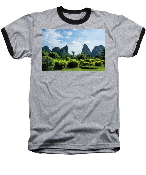 Karst Mountains Scenery Baseball T-Shirt