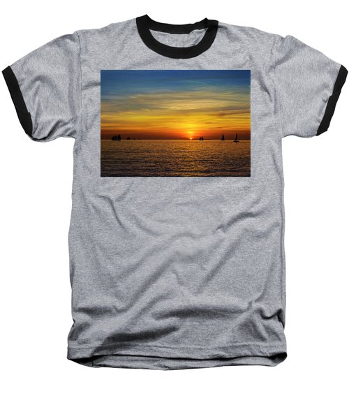 Key West Sunset Baseball T-Shirt by Scott Meyer