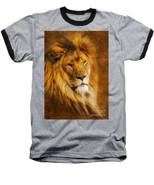 King Of The Beasts Baseball T-Shirt by Ian Mitchell