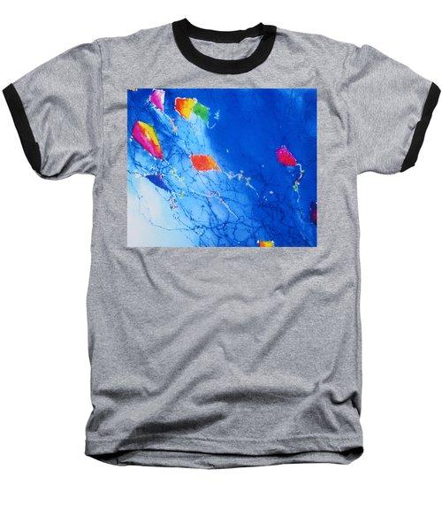 Kite Sky Baseball T-Shirt by Anne Duke