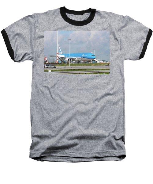 Klm Airplane At Amsterdam Schiphol Airport Baseball T-Shirt