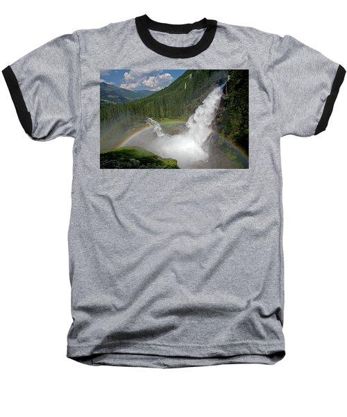 Krimml Waterfall And Rainbow Baseball T-Shirt