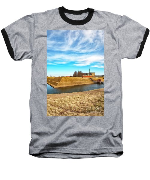 Baseball T-Shirt featuring the photograph Kronborg Castle In Helsingor by Antony McAulay