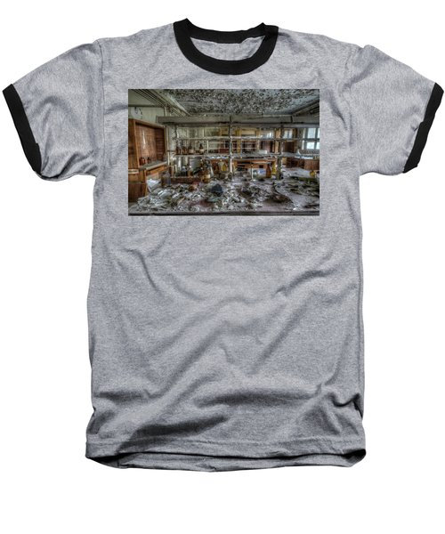 Baseball T-Shirt featuring the digital art Lab 1 by Nathan Wright