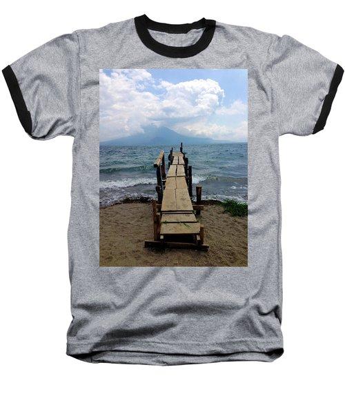 Lake Atitlan Dock Baseball T-Shirt