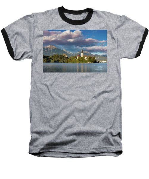 Baseball T-Shirt featuring the photograph Lake Bled Evening by Brian Jannsen