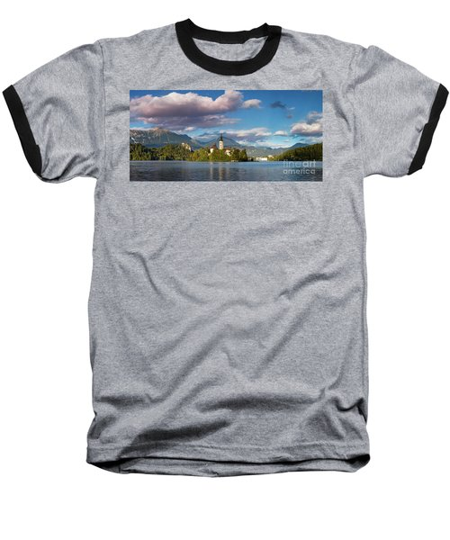 Baseball T-Shirt featuring the photograph Lake Bled Panoramic by Brian Jannsen