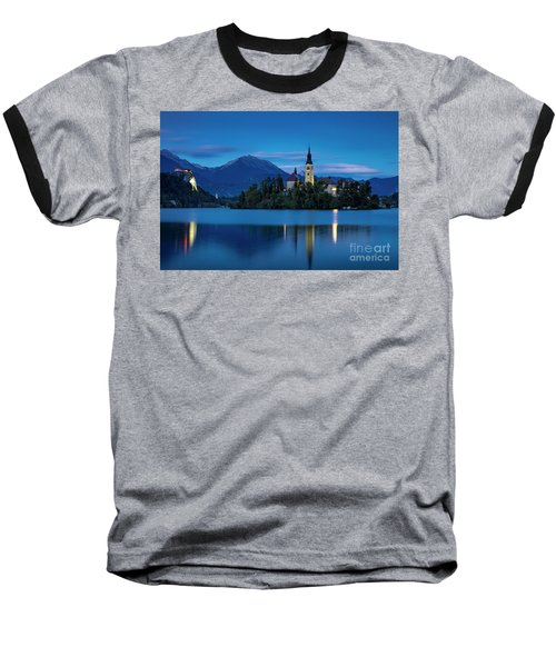 Baseball T-Shirt featuring the photograph Lake Bled Twilight by Brian Jannsen