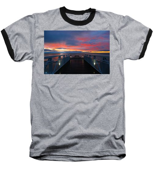 Lake Huron Sunrise Baseball T-Shirt