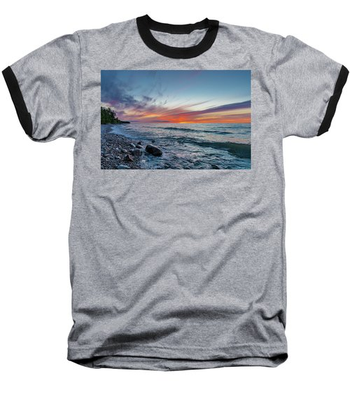 Lake Superior Sunset Baseball T-Shirt