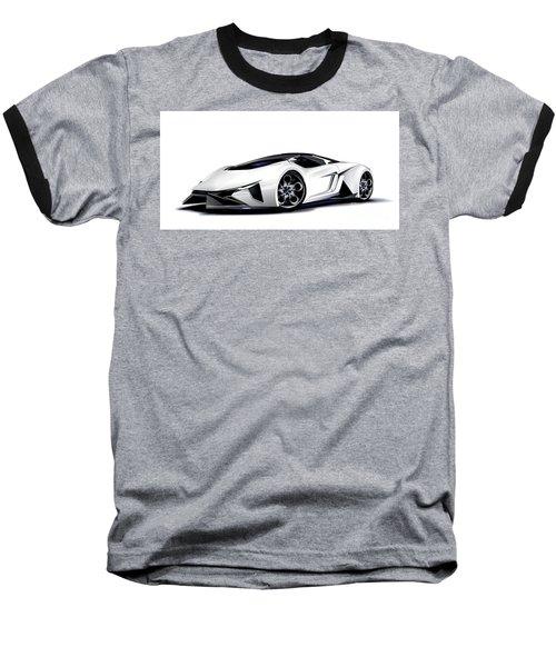 Baseball T-Shirt featuring the digital art Lamborghini by Brian Gibbs