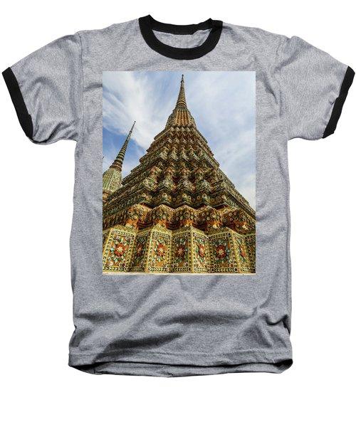 Large Colorful Stupa At Wat Pho Temple Baseball T-Shirt