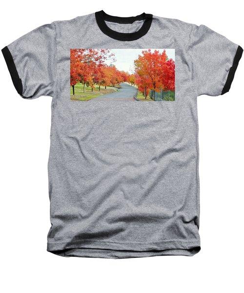 Baseball T-Shirt featuring the photograph Last Days Of Autumn by AJ Schibig