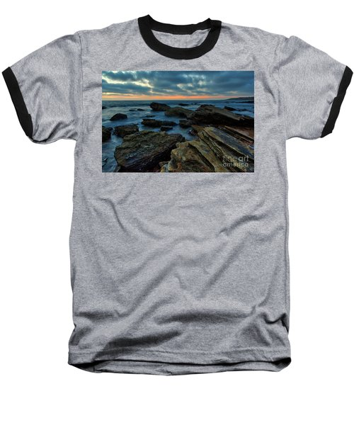 Last Light At Crystal Cove Baseball T-Shirt