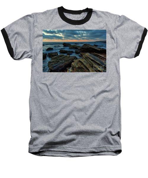Last Light At Crystal Cove Baseball T-Shirt