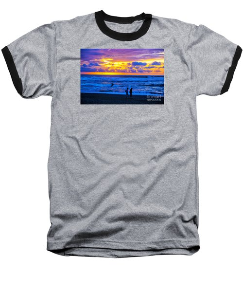 Baseball T-Shirt featuring the photograph Last Light by Rick Bragan