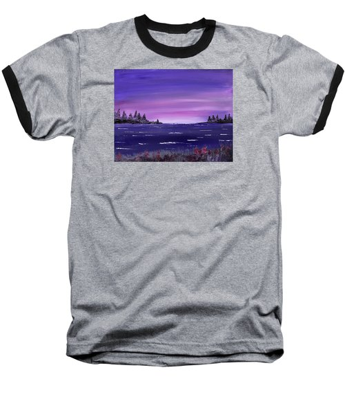Baseball T-Shirt featuring the painting Lavender Sunrise by Jack G Brauer