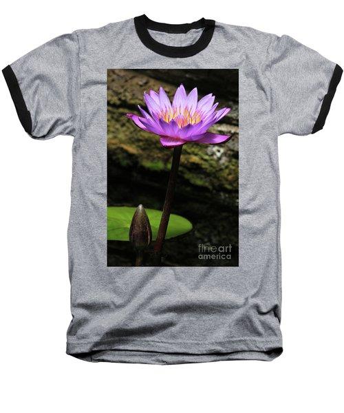 Lavender Water Lily #4 Baseball T-Shirt
