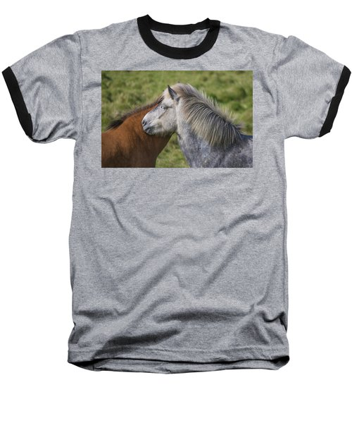 Baseball T-Shirt featuring the photograph Lean On Me by Elvira Butler