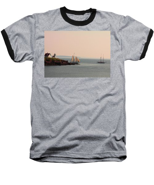 Leaving Camden Harbor Baseball T-Shirt