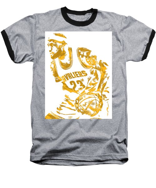 Lebron James Cleveland Cavaliers Pixel Art 7 Baseball T-Shirt
