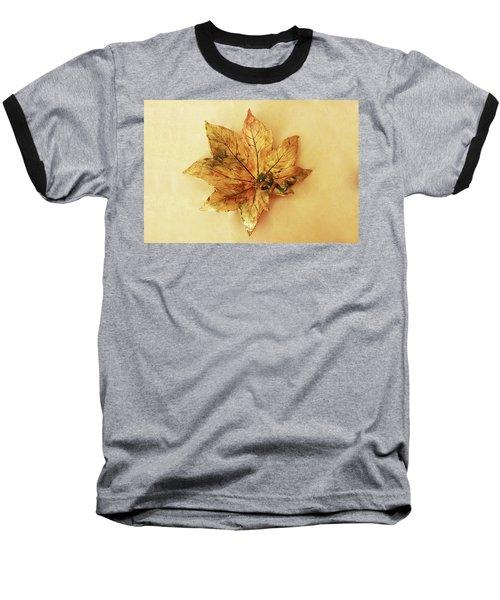 Baseball T-Shirt featuring the photograph Leaf Plate1 by Itzhak Richter