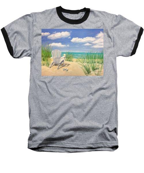 Life Is A Beach Baseball T-Shirt by Diane Diederich