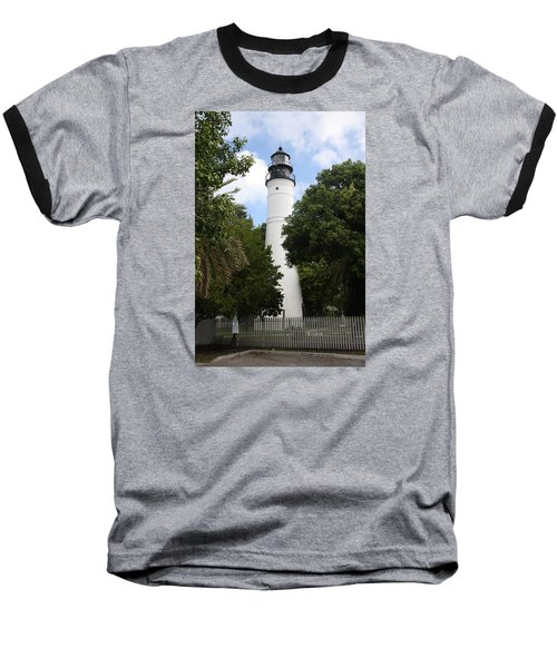 Baseball T-Shirt featuring the photograph Lighthouse - Key West by Christiane Schulze Art And Photography