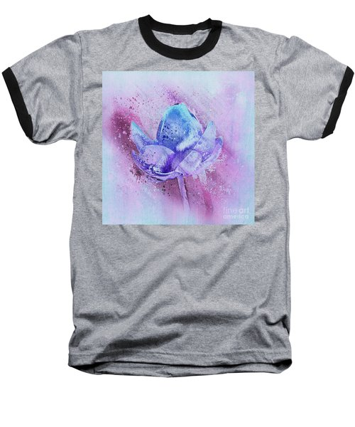 Baseball T-Shirt featuring the digital art Lily My Lovely - S114sqc75v2 by Variance Collections