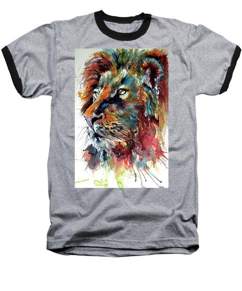 Lion Baseball T-Shirt by Kovacs Anna Brigitta