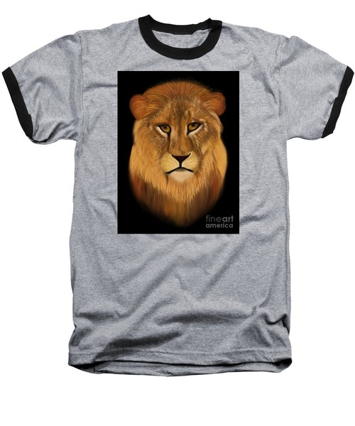 Lion - The King Of The Jungle Baseball T-Shirt