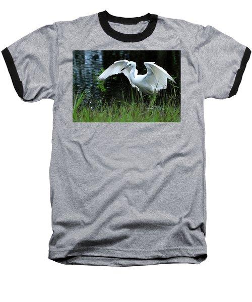 Little Blue Heron Hunting - Digitalart Baseball T-Shirt