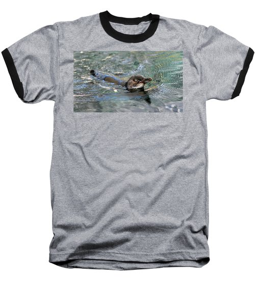 Little Penguin In The Water Baseball T-Shirt