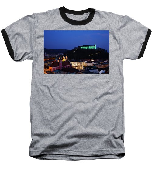 Ljubljana Castle Baseball T-Shirt