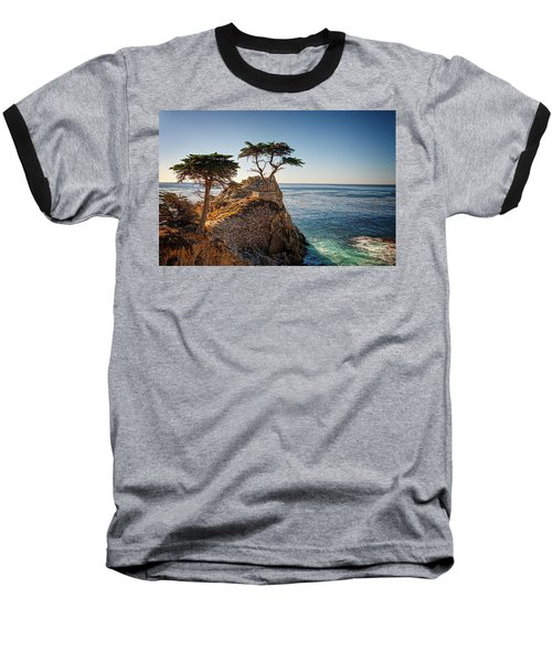 Lone Cypress Tree Baseball T-Shirt by James Hammond
