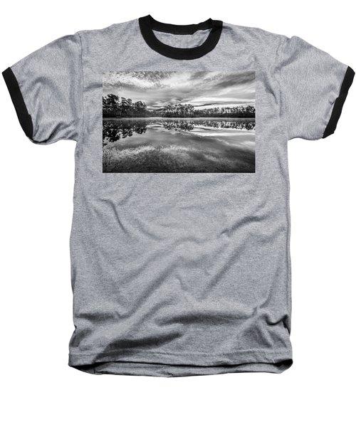 Long Pine Bw Baseball T-Shirt by Jon Glaser