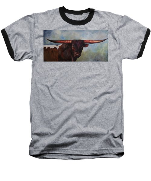 Longhorned Texan Baseball T-Shirt