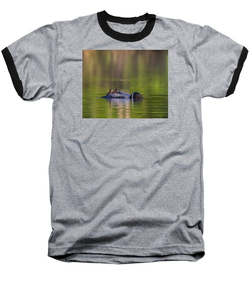 Loon Chick Yawn Baseball T-Shirt