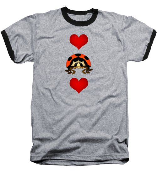 Love Bug Vertical Baseball T-Shirt by Sarah Greenwell