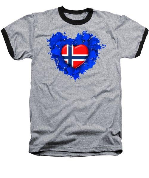 Love Norway Baseball T-Shirt