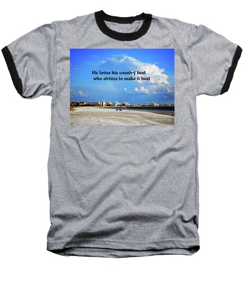 Baseball T-Shirt featuring the photograph Love Of Country by Gary Wonning