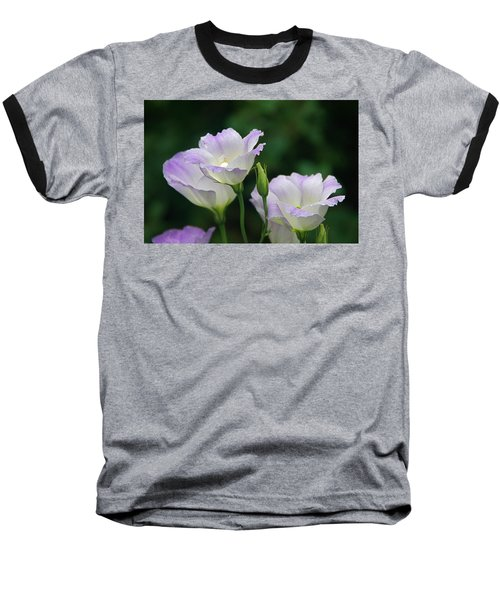 Baseball T-Shirt featuring the photograph Lovely Lisianthus by Byron Varvarigos