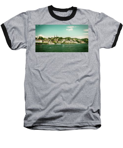 Baseball T-Shirt featuring the photograph Lucerne Panorama by Wolfgang Vogt
