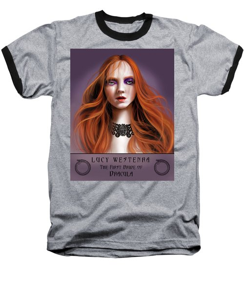 Baseball T-Shirt featuring the painting Lucy Westenra by James Christopher Hill